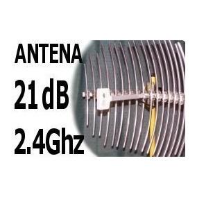 Antena Wireless 21db Grillada Con 5mtrs Ideal Para Ptp Cpe