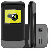 Celular Dl Yc230 Preto - Dual Chip, Tela 1.8