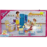Mueble Para Casa De Muñecas Barbie Salon De Clases Aula