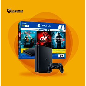 Play Station 4 Sony Hits3 Bundle 1tb + 3 Juegos Físicos