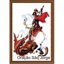 Santinho Oração São Jorge Milheiro