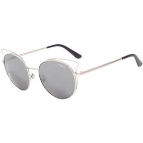 Vogue Vo 4048 S - Óculos De Sol 323/6g Prata Brilho/ Cinza