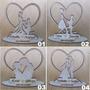 Lembrancinha De Casamento Mdf Cru 10x10cm