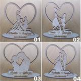 Lembrancinha De Casamento Mdf Cru 10cm