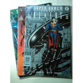 Hq-super-homem Versus Aliens:dc Comics:vol.1,2,3,(completa)