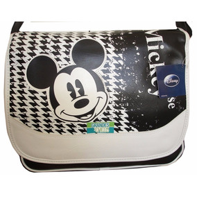 Bolso Morral Mickey Disney Original Premium Black & White