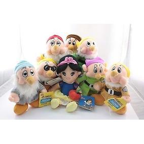 8 Pc Disney Blancanieves Y Los Siete Enanitos Peluche Muñeca