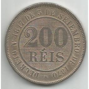 Egoto-v 034-moeda 200 Réis 1888 Cupro-níquel Imperio