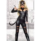 Disfraz Mujer Gatúbela Importado Catsuit Catwoman Sexy