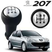 Manopla Bola Cambio Preto / Cromado Peugeot 207 206