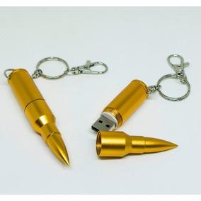 Pen Drive Bala De Fuzil 4 Gb Em Aço Usb 2.0 Militar Arma