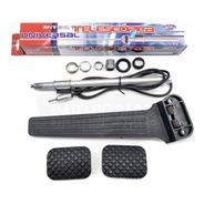 Kit Antena Cromada 4 Estágios + Jogo Capas Pedal Freio Embreagem + Pedal Acelerador Chevrolet Opala E Caravan