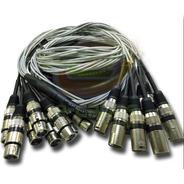 Multicabo Microfones Percussão Bateria 6 Vias 10 Metros Xlr