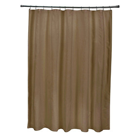 Ebydesign Sso-n67-hoisin Solid Shower Curtain, Brown