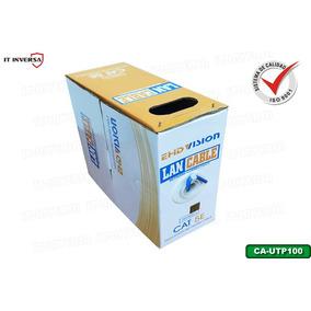 Bobina Cable Utp Cat5e 100mts Redes Seguridad Cctv Certifido