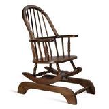 Móvel Madeira Maciça - Cadeira Balanço Relax Baixa Ref 104