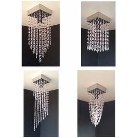 Lustre Pendente Cristal Acrílico - Sala De Estar - 12x12