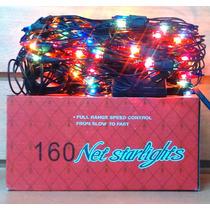 Luz Navidad Red X 160 Con Secuenciador Caja