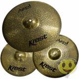 Kit Prato Aged Brass Krest Abset3 - 14, 16, 20 Loja Kadu Som
