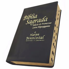 Biblia Com Harpa Letra Hiper Gigante Corrigida Com Indice