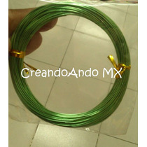 Alambre Para Bisuteria Aluminio 0.8 Mm X 10 Mts Color Verde