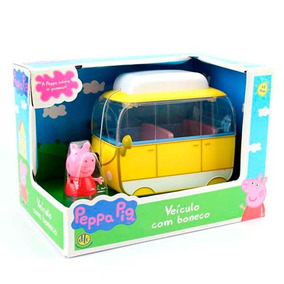 Veículo Peppa Pig Versão Van Com Boneco Dtc