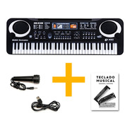 Organo Piano Teclado Musical Infantil Microfono Mq6106 Full