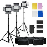 Julius Studio 3x 216 Barndoor Continuous Led Video Lighting