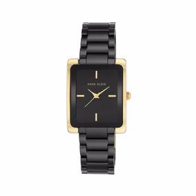Reloj Anne Klein Para Dama Ak2952bkgb Ceramico Negro/dorado