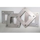 Flange Quadrado Em Aço Inox 304 Para Tubos 40x40 E 50x50