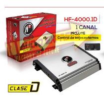 Amplificador 1 Canales C/control De Bajos Externos Hf4000.1d