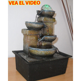 Fuente De Agua Feng Shui De Interior C/ Luz Y Esfera