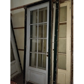 Puerta de cedro con vidrio repartido usadas aberturas - Puertas usadas de madera ...