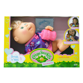 Cabbage Patch Kids Drink N Wet Newborn Pijama Mariposas