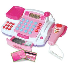 Caixa Registradora Infantil Com Som Luz Microfone Com Som