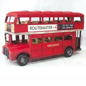 Autobús Clásico Ingles Londres Doble Piso Vintage Con Techo