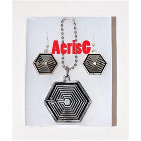 Arg Set De Collar Y Aretes Grupo Coreano Musical Exo K-pop