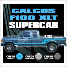 Calco Franja Ford F100 Xlt Supercab - Calcomania Ploteoya!