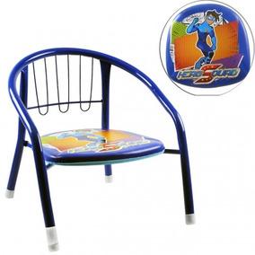 Mini Cadeira Infantil Estampada Acento Macio Ferro Criança