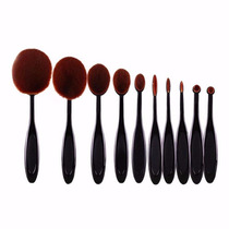 10 Pç Pincel Oval Escova Maquiagem Base Similar Mac Marykay