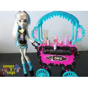 Boneca Monster High Frankie Stein E Carrinho De Café Mattel