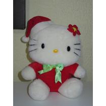 Peluche Hello Kitty Vestida De Santa Claus 28cm