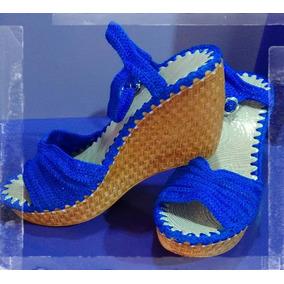 Sandalia Para Dama, Tejido Artesanal En Crochet.