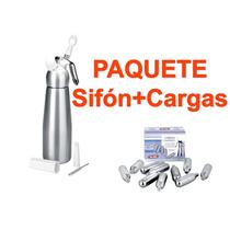 Sifon De Cocina Para Crema (500 Ml) + 1 Caja De Cargas Ibili
