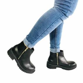 Botas Botinetas Zapatos Doble Cierre Cuero Mujer Invierno 18