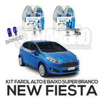 Kit Lâmpadas Super Brancas Tech One New Fiesta H1 + H7