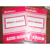 Manual Del Usuario Suzuki Adress 50 Scotter Japon Impecable