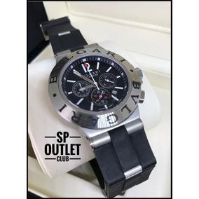50ee9f4920e Rel Gio Bvlgari Titanium Aluminium D24884 Ch35 S - Relógios De Pulso ...