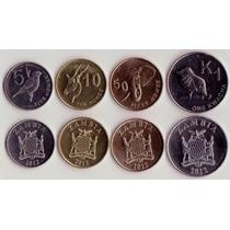Zambia Serie 4 Monedas Año 2012 Fauna