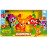 Moshi Monsters Pack X 3 Muñecos 2 Modelos Mini Monsters